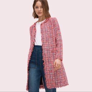 🎀Kate Spade ♠️ Multi Tweed Coat Perfect Peony